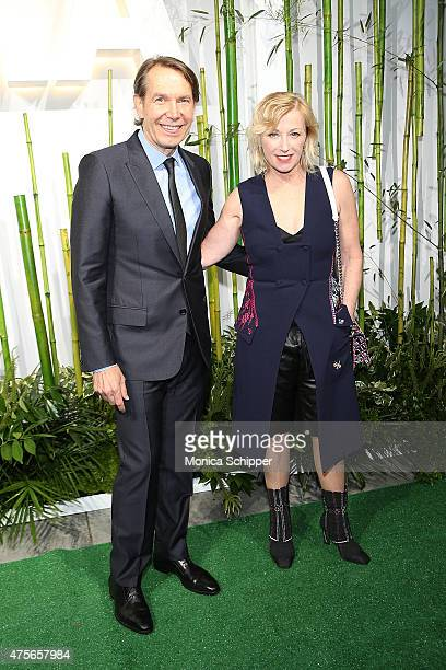 Artist Jeff Koons and photographer Cindy Sherman attend Museum Of Modern Art's 2015 Party In The Garden Arrivals at Museum of Modern Art on June 2...