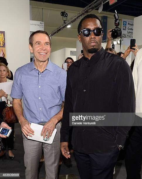Artist Jeff Koons and Sean 'P Diddy' Combs attend Art Basel Miami Beach 2013 VIP Preview at the Miami Beach Convention Center on December 4 2013 in...