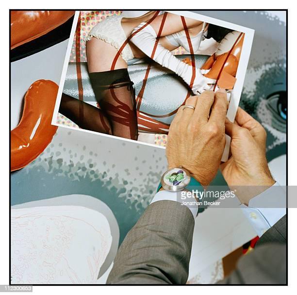 Artist Jeff Koons Artwork is photographed in his studio for Vanity Fair Magazine on June 8, 2010 in New York City.