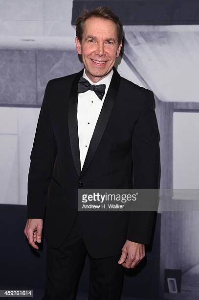 Artist Jeff Koons attends the 2014 Whitney Gala presented by Louis Vuitton at The Breuer Building on November 19 2014 in New York City