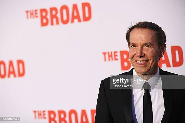 Artist Jeff Koons attends the Broad Museum black tie inaugural dinner at The Broad on September 17 2015 in Los Angeles California