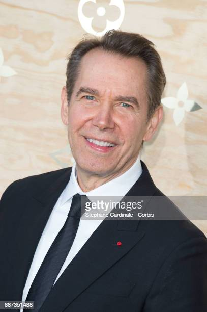 Artist Jeff Koons attends the Louis Vuitton's Dinner for the Launch of Bags by Artist Jeff Koons at Musee du Louvre on April 11 2017 in Paris France