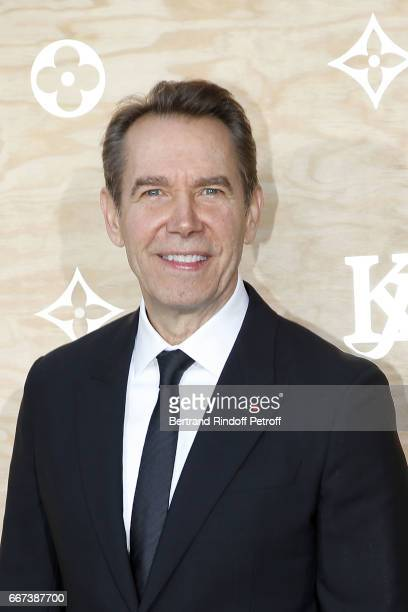 Artist Jeff Koons attends the LVxKOONS exhibition at Musee du Louvre on April 11 2017 in Paris France
