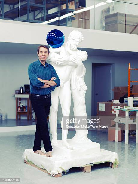 Artist Jeff Koons is photographed for Paris Match is his studio on November 14 2014 in New York City