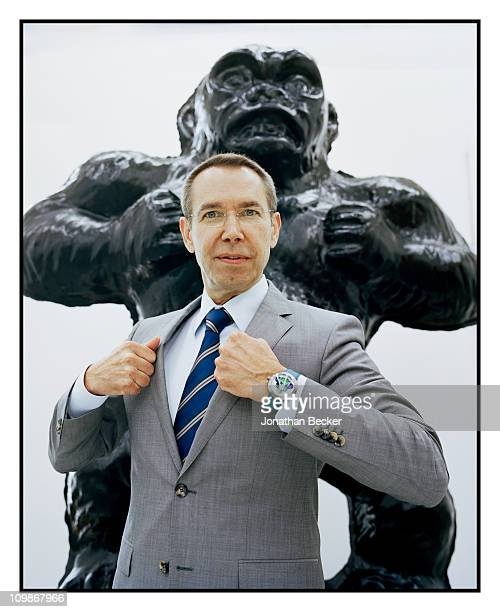 Artist Jeff Koons is photographed in his studio for Vanity Fair Magazine on June 8 2010 in New York City Published image