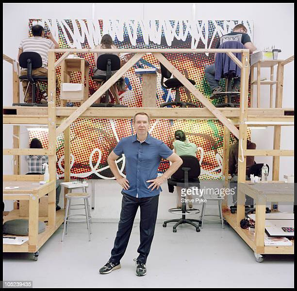Artist Jeff Koons poses for a portrait session on August 12 at his studio in New York City NY Published Image