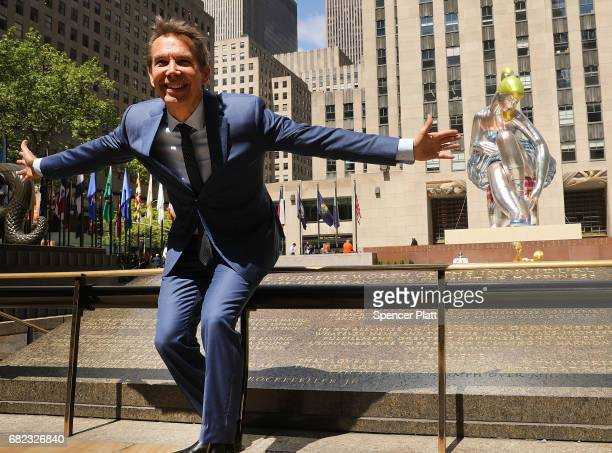 Artist Jeff Koons poses in Rockefeller Center in front of Seated Ballerina a new public art project on May 12 2017 in New York City Presented by the...