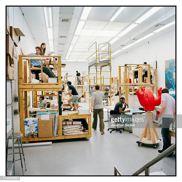 Artist Jeff Koons studio is photographed for Vanity Fair Magazine on June 8 2010 in New York City