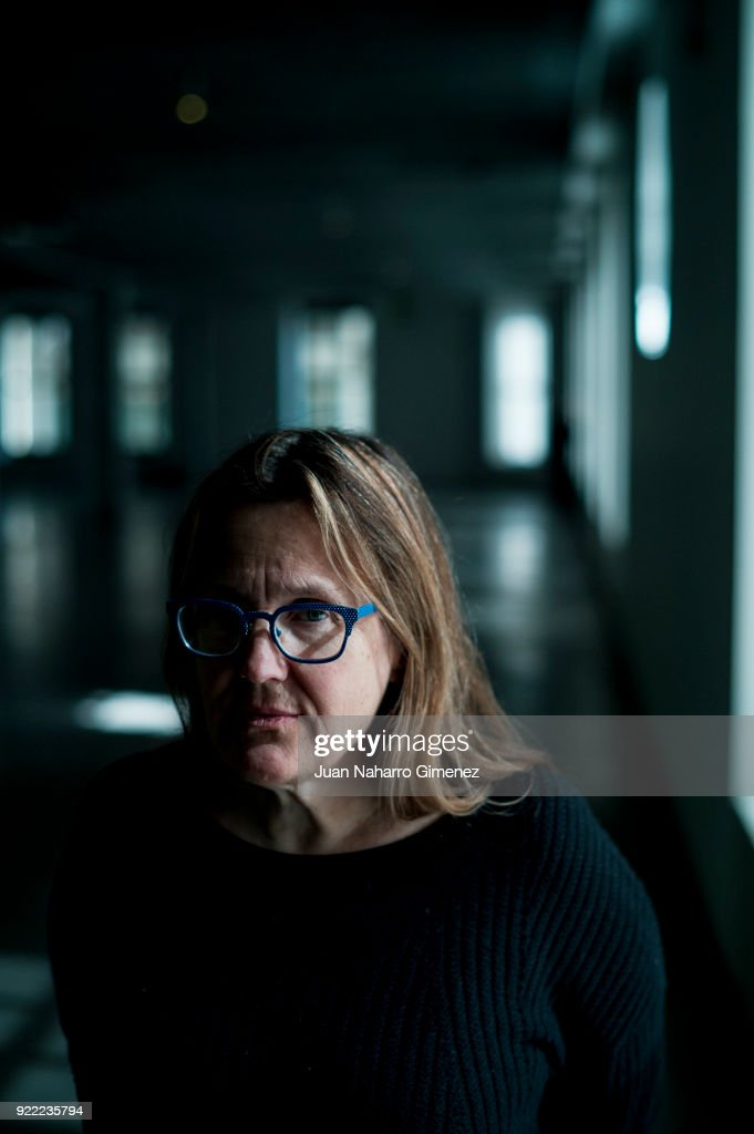 Artist Jennifer Steinkamp poses during a portrait session at Telefonica Foundation on February 21, 2018 in Madrid, Spain.