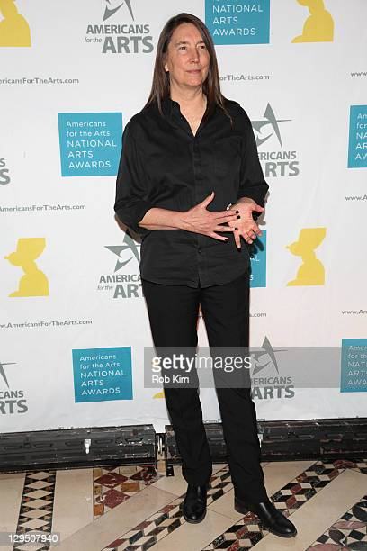 Artist Jenny Holzer attends the 2011 National Art Awards at Cipriani 42nd Street on October 17 2011 in New York City