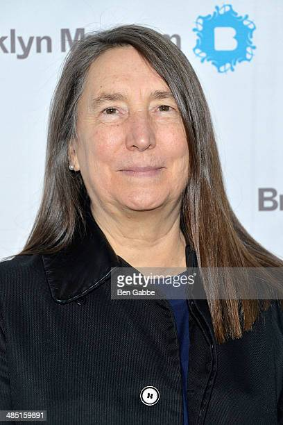 Artist Jenny Holzer attends the 4th annual Brooklyn Museum Brooklyn Artists Ball on April 16 2014 in the Brooklyn borough of New York City