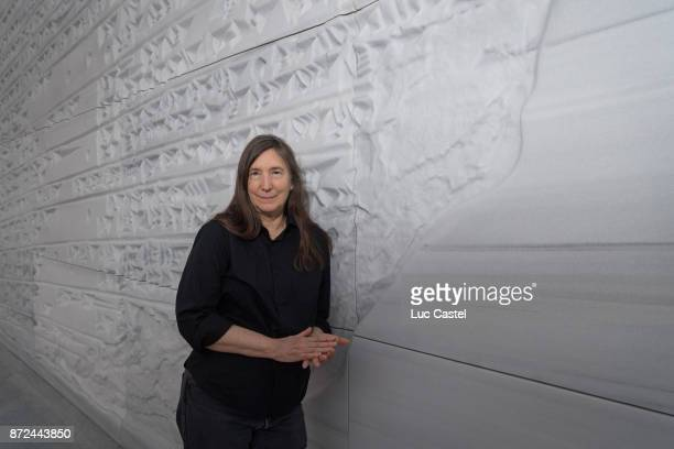 Artist Jenny Holzer attends The Louvre Abu Dhabi Museum Opening on November 9 2017 in Abu Dhabi United Arab Emirates