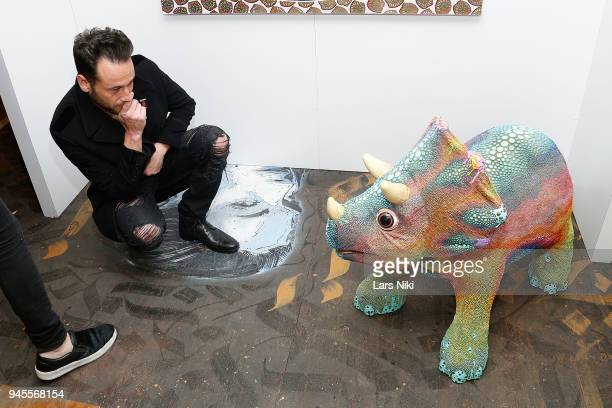 Artist Jeremy Penn attends the Sold Out Art Auction To Benefit Camp For Children With Cancer on April 12 2018 in Glen Cove New York