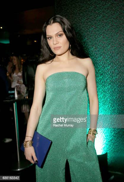Artist Jessie J attends Island Records PreGrammy Party presented by Foursquare with additional partners Young Living Ultimate Ears and Equinox at STK...