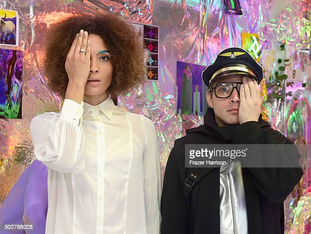 Artist JJ Brine attends The Vector Gallery Presents 'The Retrial Of Charles Manson' at Vector Gallery on December 28 2015 in Los Angeles California