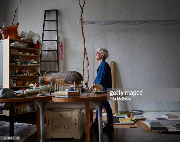 Artist Joan Jonas is photographed for The Observer Newspaper on January 22 2018 in her studio in New York City PUBLISHED IMAGE