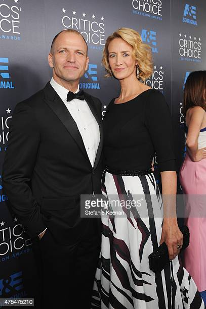 Artist Joe Coleman and actress Janet McTeer attend the 5th Annual Critics' Choice Television Awards at The Beverly Hilton Hotel on May 31 2015 in...