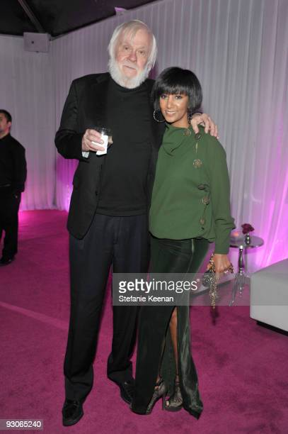 Artist John Baldessari and Gelila Assefa attend the MOCA NEW 30th anniversary gala held at MOCA on November 14 2009 in Los Angeles California