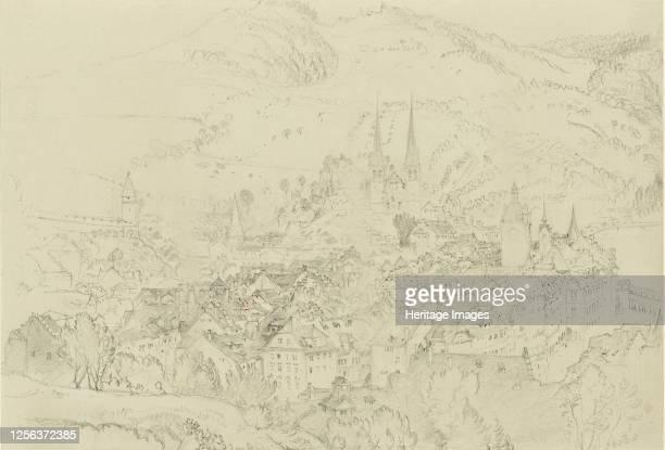 View of Luzern from above October December 1861 Artist John Ruskin