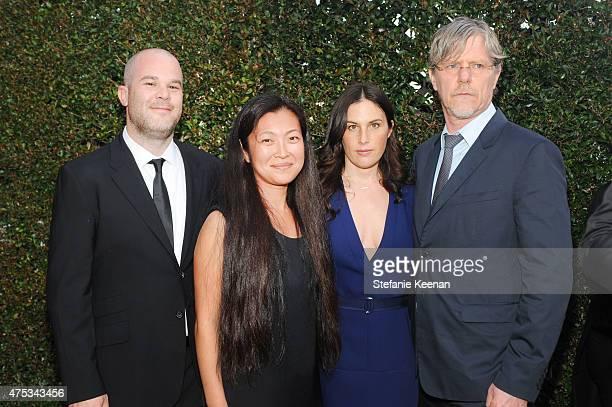 Artist Jonas Wood Shio Kusaka Jennifer Guidi and Mark Grotjahn attend the 2015 MOCA Gala presented by Louis Vuitton at The Geffen Contemporary at...