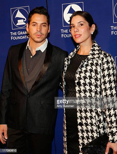 """Artist Jorge Moreno and Mayted Ontivero attend the Music Preservation Project """"Cue The Music"""" held at the Wilshire Ebell Theatre on January 28, 2010..."""