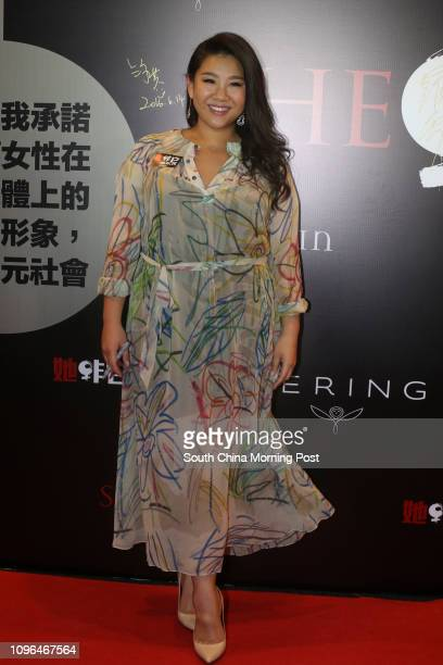 Artist Joyce Cheng Yanyee attends Red Carpet Premiere of ' She Objects' Documentary by The Women's Foundation Hong Kong at HSBC Main Building in...