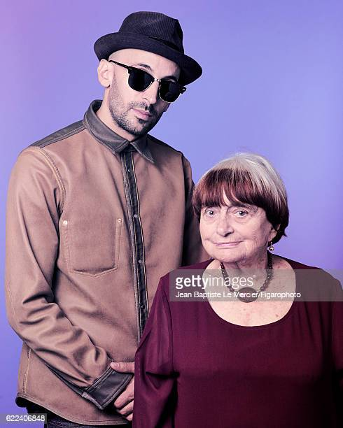 Artist JR and film director Agnes Varda are photographed for Madame Figaro on September 8 2016 at the Toronto Film Festival in Toronto Canada CREDIT...