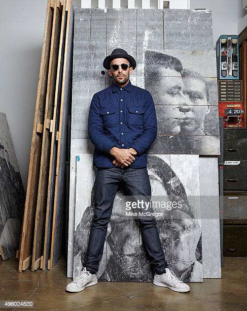 Artist JR is photographed for The Observer New Review Magazine on August 5, 2015 in New York City.