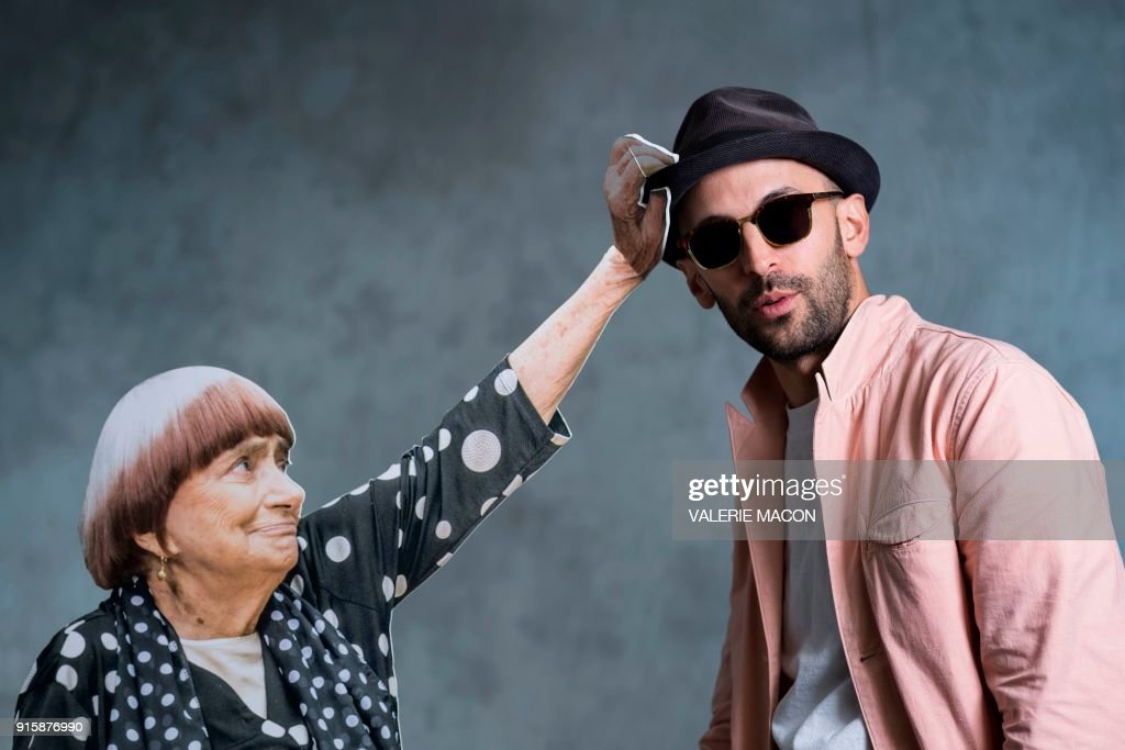 JR and cardboard Agnes Varda take the town!