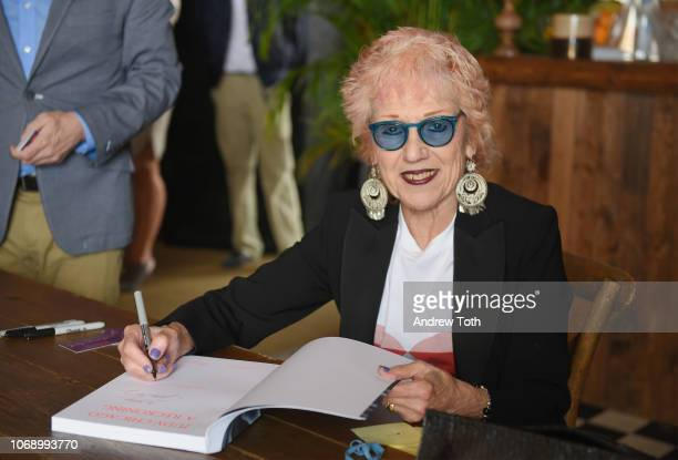 Artist Judy Chicago attends Soho House Hosts In Conversation Judy Chicago Alex Gartenfeld during Art Basel Miami 2018 at Soho House Miami on December...