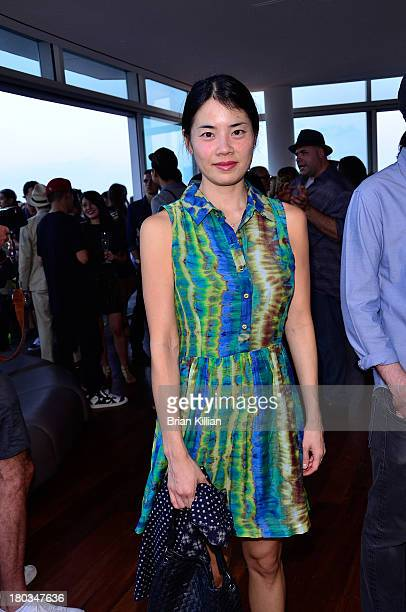 Artist Julia Chiang attends the Daniel Ashram and Pharrell Williams Fashion Week party at The Standard East Village on September 11 2013 in New York...