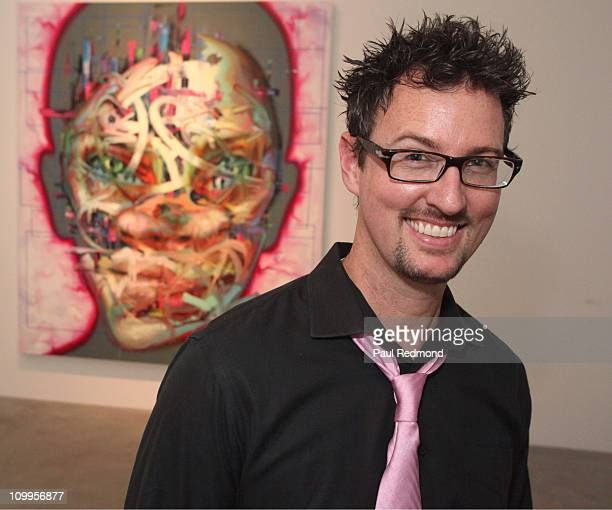 Artist Justin Bower attends Concept Los Angeles Fashion Week KickOff Event at Ace Gallery on March 17 2011 in Beverly Hills California
