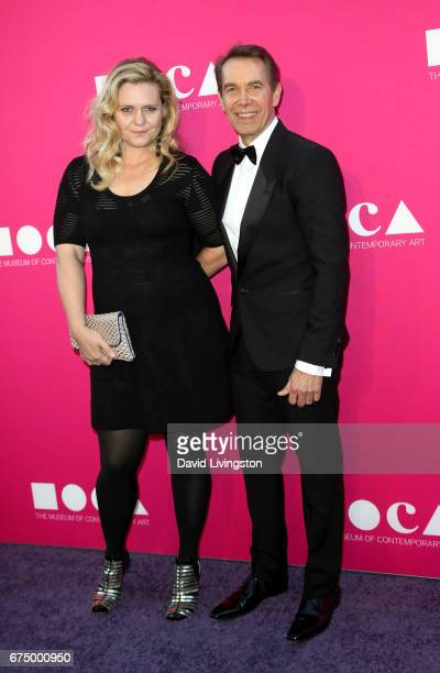 Artist Justine Wheeler Koons and honoree Jeff Koons attend the 2017 MOCA Gala at The Geffen Contemporary at MOCA on April 29 2017 in Los Angeles...
