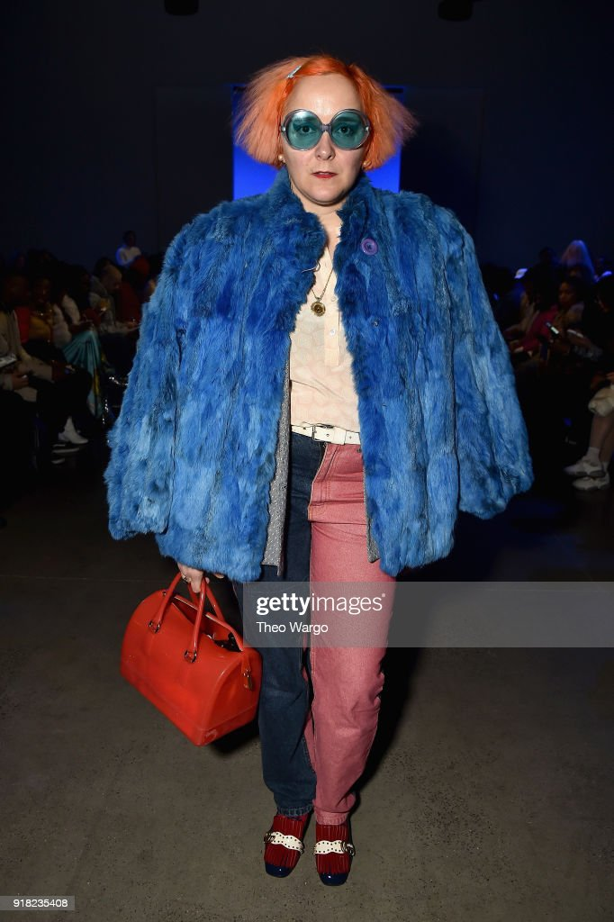 Artist K8 Hardy attends the Laquan Smith front row during New York Fashion Week: The Shows at Gallery I at Spring Studios on February 14, 2018 in New York City.
