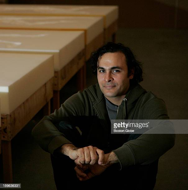Artist Kader Attia along with his art at the Institute Of Contemporary Art