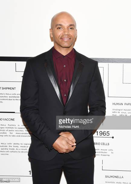 Artist Kadir Nelson attends HBO's The HeLa Project Exhibit For The Immortal Life of Henrietta Lacks on April 6 2017 in New York City