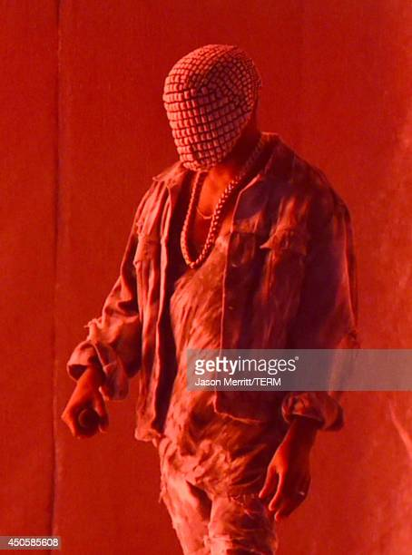 Artist Kanye West performs at the Bonnaroo Music Arts Festival on June 13 2014 in Manchester Tennessee