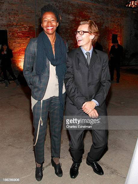 Artist Kara Walker and Dia director Philippe Vergne attend the 2012 Dia Art Foundation's Gala at Dia Art Foundation on November 12 2012 in New York...
