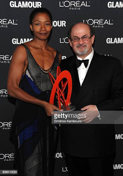 Artist Kara Walker and writer Salman Rushdie attend the Glamour Magazine 2008 Women of the Year Awards at Carnegie Hall on November 10 2008 in New...