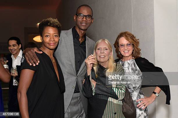 Artist Kara Walker honorees Mark Bradford and Joni Mitchell and Hammer Museum Director Ann Philbin attend the Hammer Museum's 12th annual Gala in the...