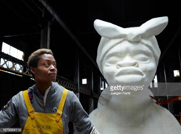 Artist Kara Walker is photographed for Art Magazine Germany on April 23 2014 at the production of her installation A Subtlety in the former Domino...