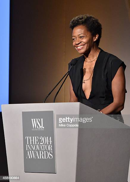 Artist Kara Walker speaks onstage WSJ Magazine 2014 Innovator Awards at Museum of Modern Art on November 5 2014 in New York City