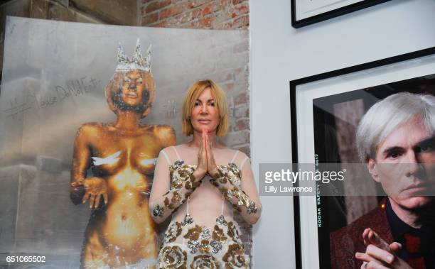 Artist Karen Bystedt attends Karen Bystedt's 'Kings And Queens' exhibition on March 9 2017 in Los Angeles California