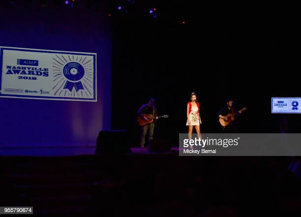 Artist Kassi Ashton performs onstage during the 3rd Annual AIMP Awards at Ryman Auditorium on May 7 2018 in Nashville Tennessee