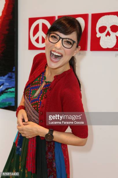 Artist Kate Kelton attends Art On Scene's group show gallery Back To School Special at Art On Scene on August 5 2017 in West Hollywood California