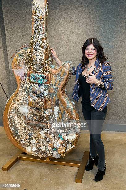 Artist Kathy Rose attends the 2014 Gibson GuitarTown Project Media Preview at Bonhams & Butterfields on February 19, 2014 in Los Angeles, California.