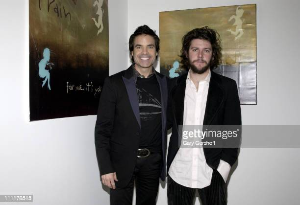 Artist KC Haxton and Pat Monahan of Train during Train Celebrates Release of New Album 'For Me It's You' January 31 2006 at Maya Stendhal Gallery in...