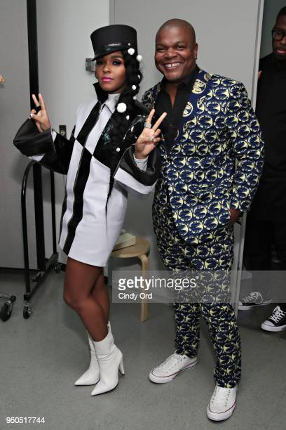 """Artist Kehinde Wiley and recording artist/ actress Janelle Monae attend the """"Dirty Computer"""" screening at The Film Society of Lincoln Center, Walter..."""