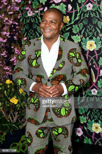 Artist Kehinde Wiley attends Planned Parenthood Of New York City Spring Gala Honoring Cecile Richards And Laverne Cox at Spring Studios on May 1,...