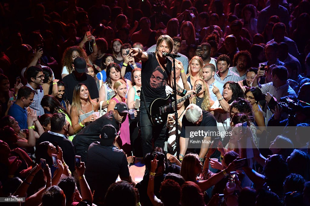 Artist Keith Urban performs onstage at a one-of-a-kind concert experience in New York City, 'PlentiTogether LIVE,' bringing to life the better together theme of the first multi-brand rewards program in the U.S., Plenti.